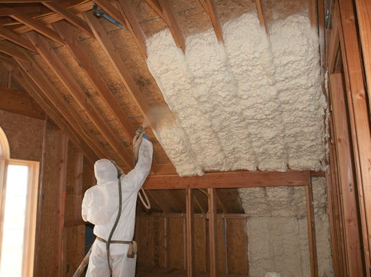 Insulating Walls From The Inside : New foam insulation is useful in attics and inside walls