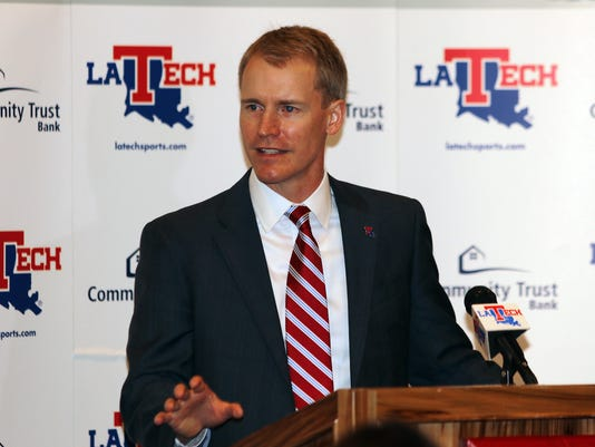 LA Tech mens basketball coach Eric Konkol presser.