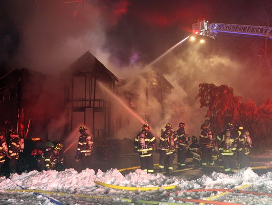A large house was destroyed by fire on Orangeburg Road