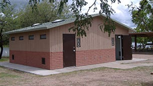 The pre-wired, pre-plumbed bathroom facilities at Memorial Park in Rockport are scheduled to be completely installed by early to mid-December of 2016.