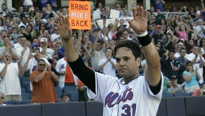 Mike Piazza has more home runs than any catcher in baseball history, but has failed to earn Hall of Fame election in three tries on the ballot.