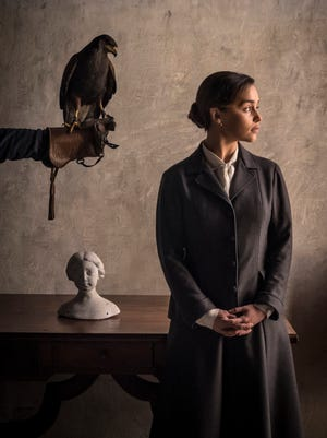 Emilia Clarke plays a nurse who works with a traumatized child in the period thriller 'Voice from the Stone.'