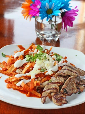 Antigua Latin Restaurant's Easter brunch buffet will feature a number of signature items including their chilaquiles.