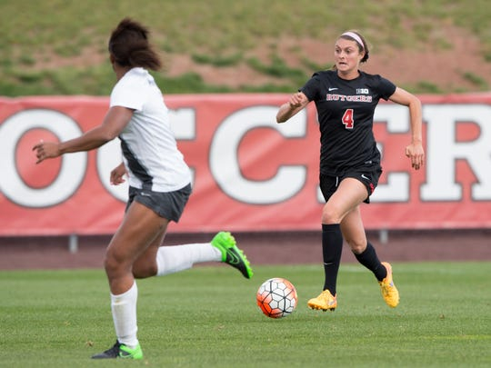 Rutgers women's soccer forward Colby Ciarrocca attended Montgomery H.S.