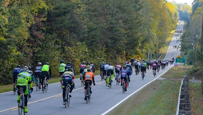 An image from the 2016 Gran Fondo Hincapie in Greenville, SC