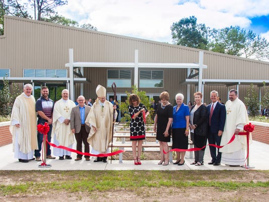 Lafayette's St. Genevieve Middle School Held A Ribbon Cutting, Thursday Morning, April 27th, To Celebrate The Opening Of Their New Cafitorium
