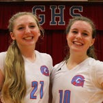 By leading Glendale to an upset volleyball win over Ozark, from left, Kelsey Larsen and Emma Brand became American Family Insurance ALL-USA Ozarks Performers of the Week.