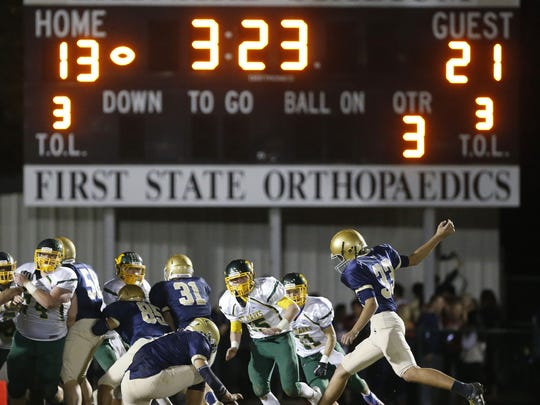 Salesianum takes on St. Mark's in a 2014 football game
