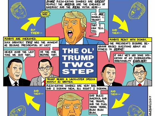 "A ""This Modern World"" cartoon featuring President Donald"