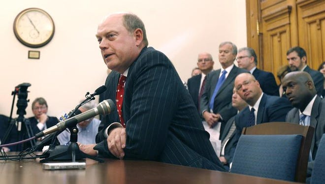 Bob Grand, shown testifying in 2009 before the Indiana Senate Appropriations Committee, is not as worried as some other Republicans about Donald Trump becoming the party's nominee.
