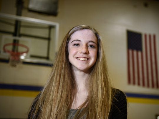 Kate Tomczik was one of the leadings scorer and rebounders for the St. Cloud Cathedral girls basketball team this year.