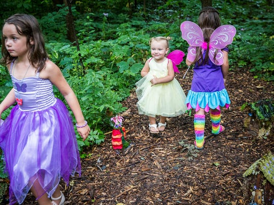 Costumed attendees hunt for faeries, listen to live