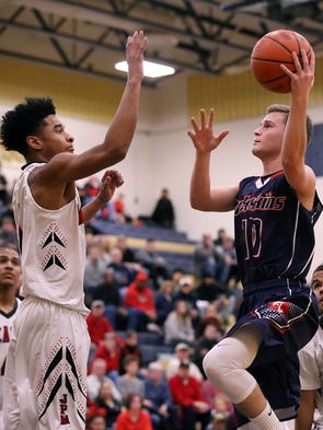 Conestoga Valley's Connor Whitacre (10) goes to the
