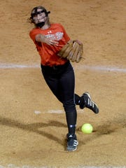 South Side's Kelsey Turner is one of three pitchers that the Lady Hawks can use in any game.