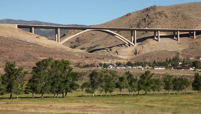 The Galena Creek Bridge is just one of nine in an 8½-mile stretch of Mount Rose Highway that links Reno and Carson City.