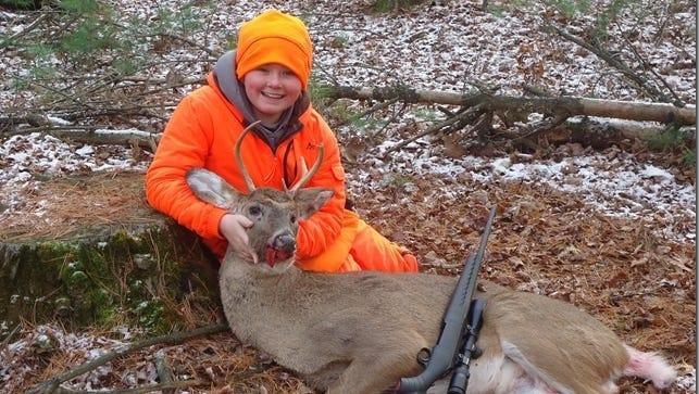 Matt Zeichert's first buck taken on opening day in Waushara County.