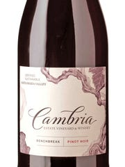 The 2013 Cambria Benchbreak pinot noir has dark berry aromas and flavors.