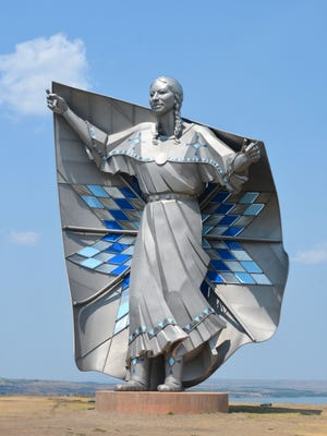 "Dave Lamphere, sculptor of ""Dignity,"" will be speaking Thursday in Sioux Falls."