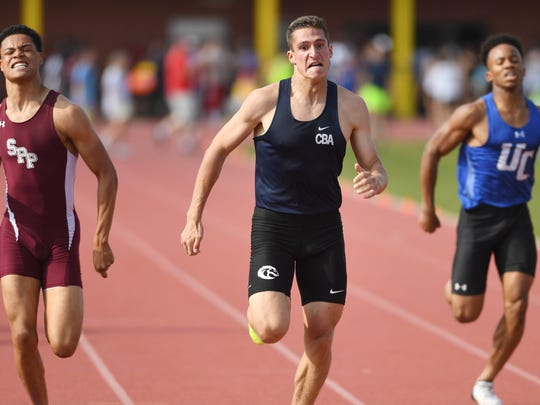 Day 1 of State Track Championships at Franklin High School in Somerset on Friday, June 1, 2018. CBA's Andrew Canale in the Non-Public A boys 400.