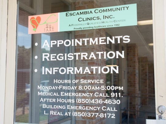 The Escambia Community Clinic on West Jordan Street