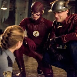 """Barry Allen (Grant Gustin) and Jay Garrick (Teddy Sears) develop a friendship in the new season of """"The Flash."""""""