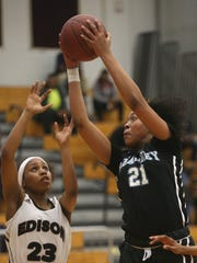 Kearney's Saniaa Wilson is in her third varsity season as a freshman.