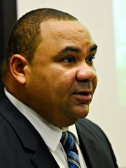 York City Schools Superintendent Eric Holmes gives