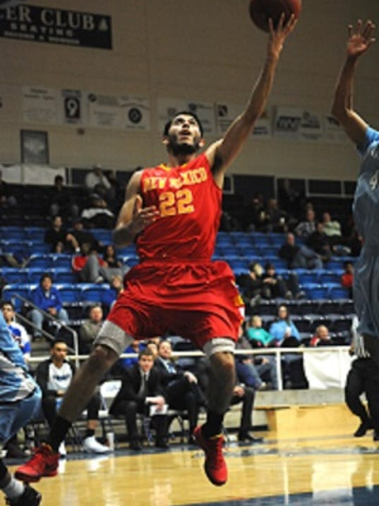 (Clayton Jones/Hobbs News-Sun) New Mexico Junior College point guard Rene Esparza verbally committed to New Mexico State Thursday afternoon.
