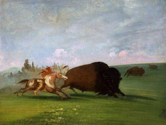 -Catlin Buffalo Chase a Single Death.jpg_20140528.jpg