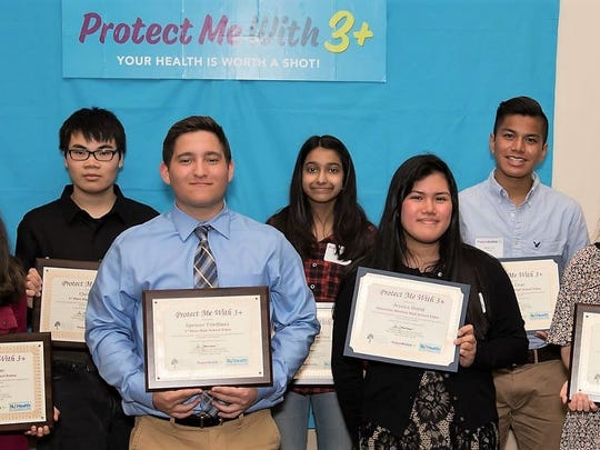 New Jersey Middle School and High School Students Promote Vaccine Awareness  in the Annual Protect Me With 3+ Poster and Video Contest
