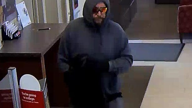 Police are seeking this man in connection with a Brooklawn bank robbery.