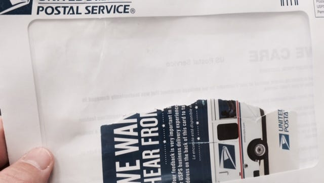 A reader recently got the remains of a Postal Service customer service survey in the mail.