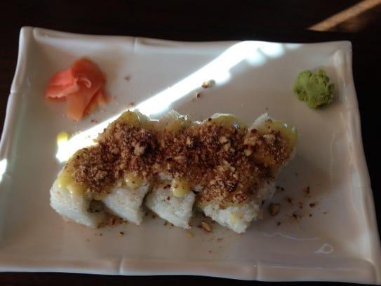 Fugu Tei's Stuart Beach Roll is tempura shrimp, avocado