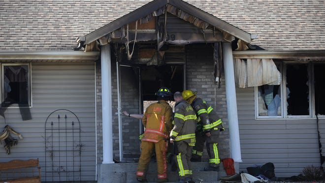 A fatal house fire claimed the lives of a homeowner, David Smith, and a Valley Springs Fire & Rescue volunteer firefighter, Steven Ackerman, in Brandon, S.D., Monday, April 13, 2015.