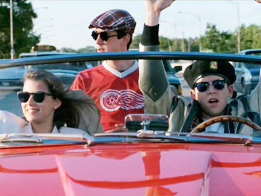 "The movie world says ""danke schoen"" to the stars of ""Ferris Bueller's Day Off"": Mia Sara, Alan Ruck (center) and Matthew Broderick."