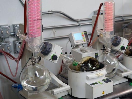 A marijuana-extraction system inside the Wana Brands