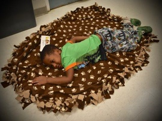 Students at MacGowan Elementary in the Redford Union district learn sleeping tips.