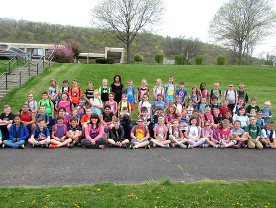 The third-grade class at Cohen Elementary School is