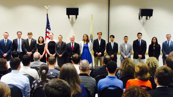 Pictured with U.S. Rep. Leonard Lance (R-Dist. 7) are the Seventh Congressional District students who were nominated and appointed into the United States Service Academies.
