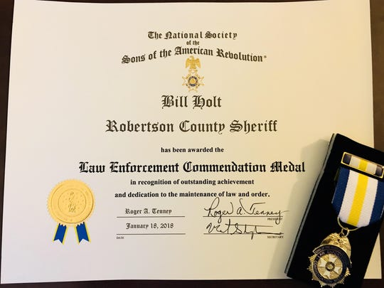 Sheriff commendation