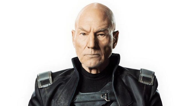 "Patrick Stewart as Professor X in ""X-Men: Days of Future Past."""