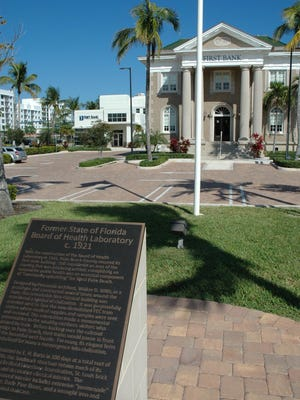 West Palm Beach named the state laboratory building as its first historic landmark in 1918. It is one of three examples of Neoclassical architecture in West Palm Beach. The others are the Church of Christ Scientist building on Flagler Drive and the historic 1917 courthouse, now the History Museum of Palm Beach County.