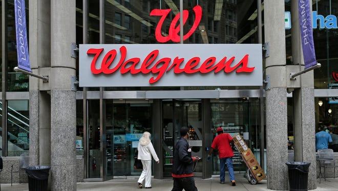 A Walgreens retail store in Boston.