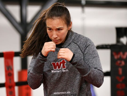 IBF featherweight champion Jennifer Han goes through