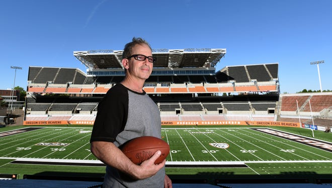 Sports reporter Gary Horowitz is photographed at Reser Stadium.