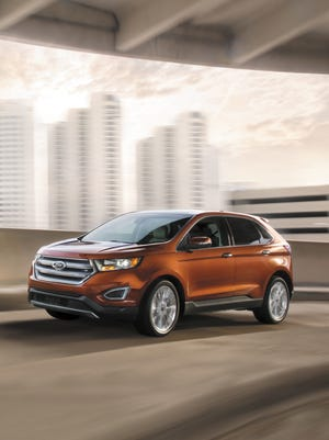The 2017 Ford Edge is available in four trim levels and with three engine choices, from 245 hp to 315 hp.
