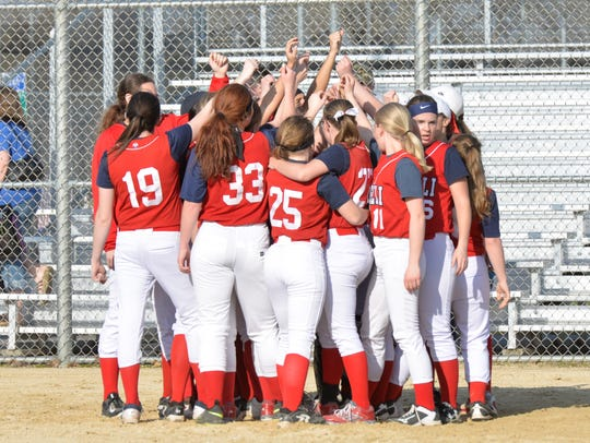The Pacelli softball team improved to 9-0 on the season