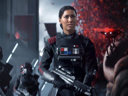 Commander Iden Versio in the video game 'Star Wars Battlefront II.'
