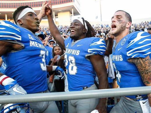University of Memphis teammates (left to right) Anthony