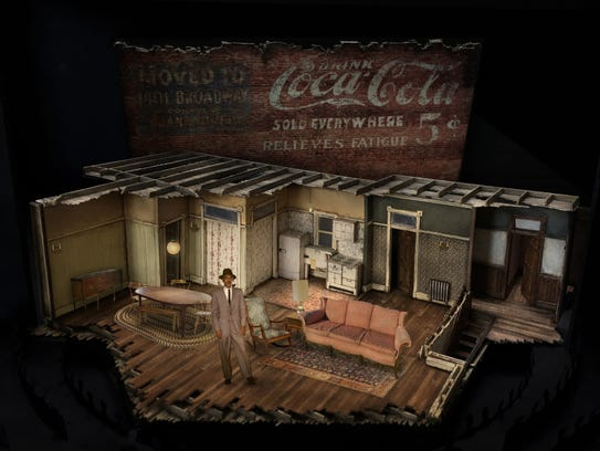 """The set model for Two River Theater's """"A Raisin in"""